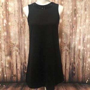Isaac Mizrahi Black Beaded Dress size Small
